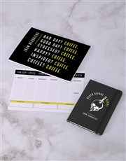 Personalised Coffee Addict Desk Stationery Set