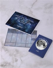 Personalised Shoot For Moon Desk Stationery Set