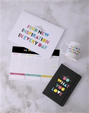 Personalised Do What You Love Desk Stationery Set