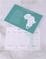 Personalised Love Africa Desk Stationery Set