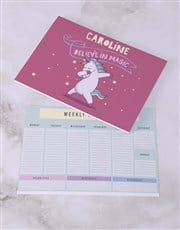 Personalised Believe In Magic Desk Stationery Set