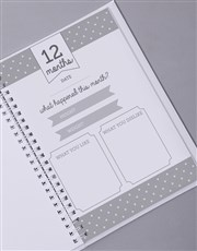 Personalised Elephant Babys First Year Journal