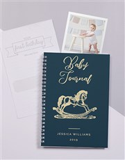 Personalised Rocking Horse Baby Journal