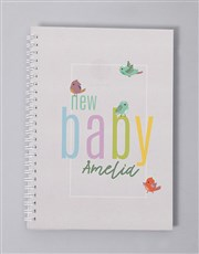 Personalised Little Birdie Baby Journal
