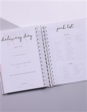 Personalised Chic Dots Pregnancy Journal
