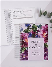 Personalised Watercolour Floral Wedding Journal