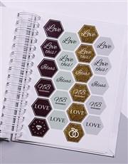Personalised Modern Terrazzo Wedding Journal