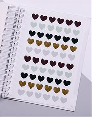 Personalised Photo Gold Confetti Wedding Journal