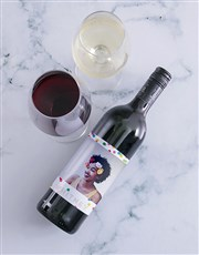 Personalised Colour And Confetti Photo Wine
