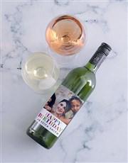 Personalised Birthday Photo Wine
