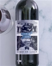 Personalised Then And Now Photo Wine