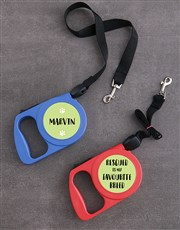Personalised Pettable Retractable Dog Leash