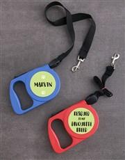 Personalised Rescue Retractable Dog Leash