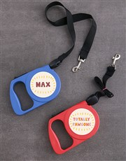 Personalised  Pawsome Retractable Dog Leash