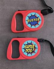 Personalised Super Dog Retractable Dog Leash
