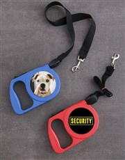 Personalised Security Retractable Dog Leash