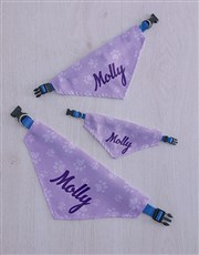 Personalised Purple Paw Print Bandanna And Toys