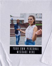 Personalised Photo Message Long Sleeve T-Shirt