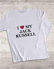 Personalised I Love My Long Sleeve T Shirt