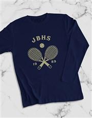 Personalised Tennis Team Long Sleeve T Shirt