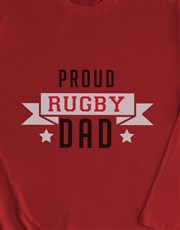 Personalised Proud Dad Long Sleeve T Shirt