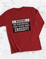 Personalised Warning Long Sleeve T Shirt