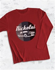 Personalised Car Logo Long Sleeve T-Shirt