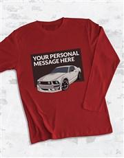 Personalised Racecar Long Sleeve T Shirt