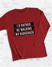 Personalsied Id Rather Be My Long Sleeve T-Shirt