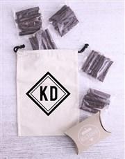 Personalised Monochrome Initial Biltong Bag