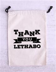 Personalised Thank You Biltong Bag