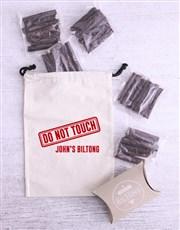 Personalised Warning Biltong Bag