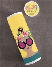 Personalised Birthday Girl Fruit And Nuts Tube