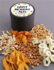 Personalised Birthday Fruit and Nut Hat Box