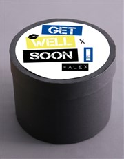 Personalised Get Well Fruit and Nut Hat Box
