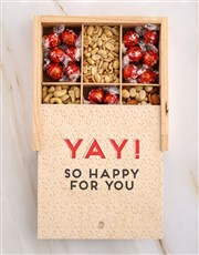 Personalised Yay Happy Snack Crate