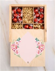 Personalised Initial Floral Snack Crate