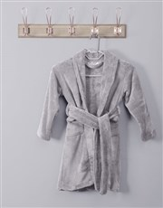 Personalised Message Grey Fleece Kids Gown