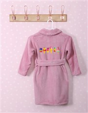 Personalised Ice Cream Pink Fleece Kids Gown