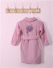 Personalised Princess Rocks Pink Fleece Kids Gown