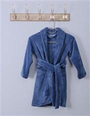 Personalised Weekends Blue Fleece Kids Gown
