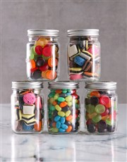 Personalised Get Well Mini Sweets Jars