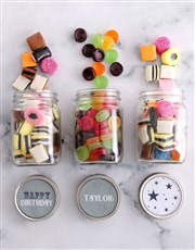 Personalised Happy Birthday Mini Sweets Jars
