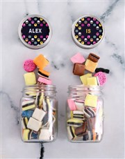 Personalised Mini Liquorice Jars