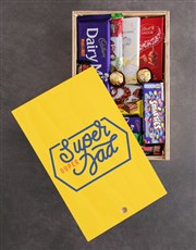 Personalised Super Dad Chocolate Crate