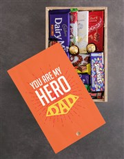Personalised My Hero Chocolate Crate