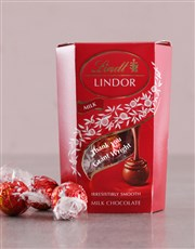 Personalised Thank You Lindt Cornet Box