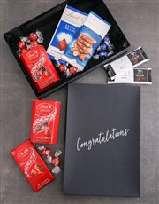 Personalised Congrats Box Of Lindt Chocs