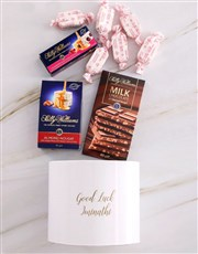 Personalised Good Luck Nougat Box