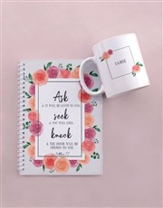 Personalised Seek and Find Mug and Notebook